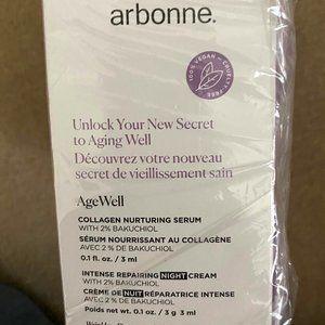 Arbonne AgeWell Serum & Cream mini's-NIB